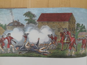 British fire upon colonialists at Lexington
